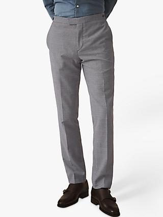 Reiss Wangle Slim Fit Puppytooth Suit Trousers, Blue/White