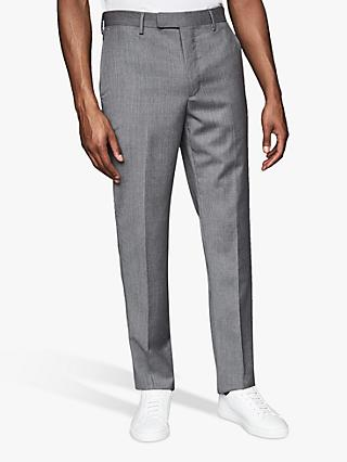 Reiss Crimson Plain Wool Chinos