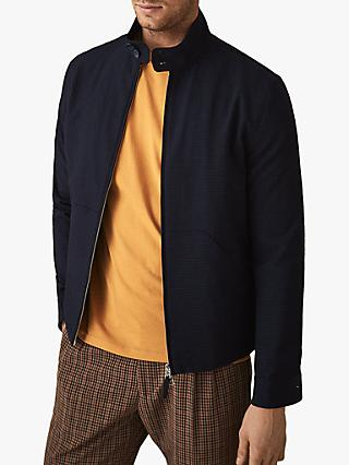 d25297fb73e Reiss Como Seersucker Bomber Jacket