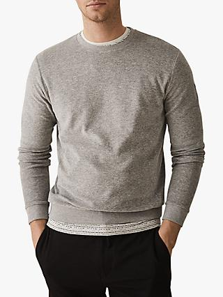 452d4bf836531 Reiss Fred Towelling Crew Neck Jumper