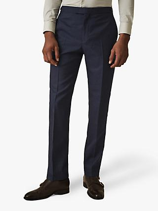 Reiss Bernardo Mixer Wool Suit Trousers, Royal Blue