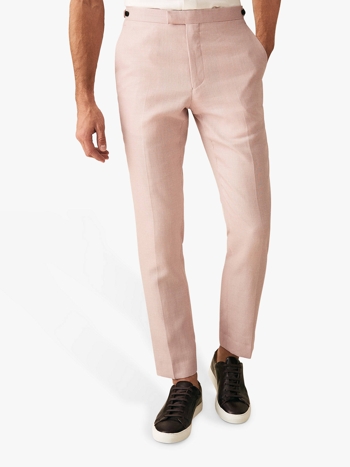 2843c2e393de Buy Reiss Melody Slim Fit Suit Trousers, Soft Pink, 30R Online at johnlewis.