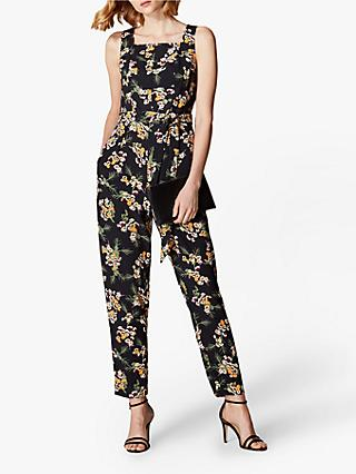 Karen Millen Tailored Floral Jumpsuit, Black/Multi