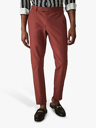 Reiss Westford Slim Fit Chinos, Rust
