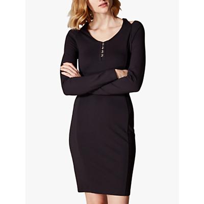 Karen Millen Hook & Eye Dress, Black