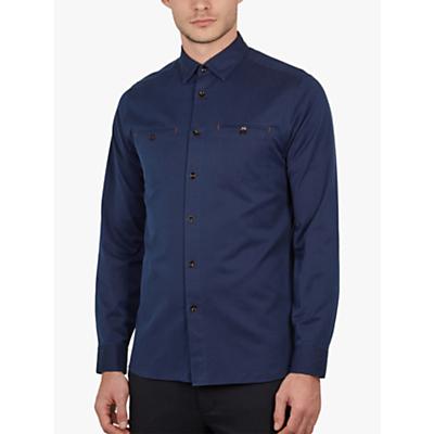 Ted Baker Denray Denim Shirt, Navy Blue