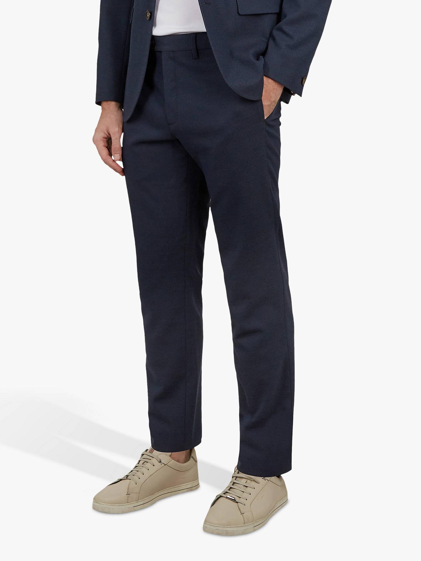 7176bfed4f1b Ted Baker Gorktro Textured Semi Plain Trousers at John Lewis   Partners