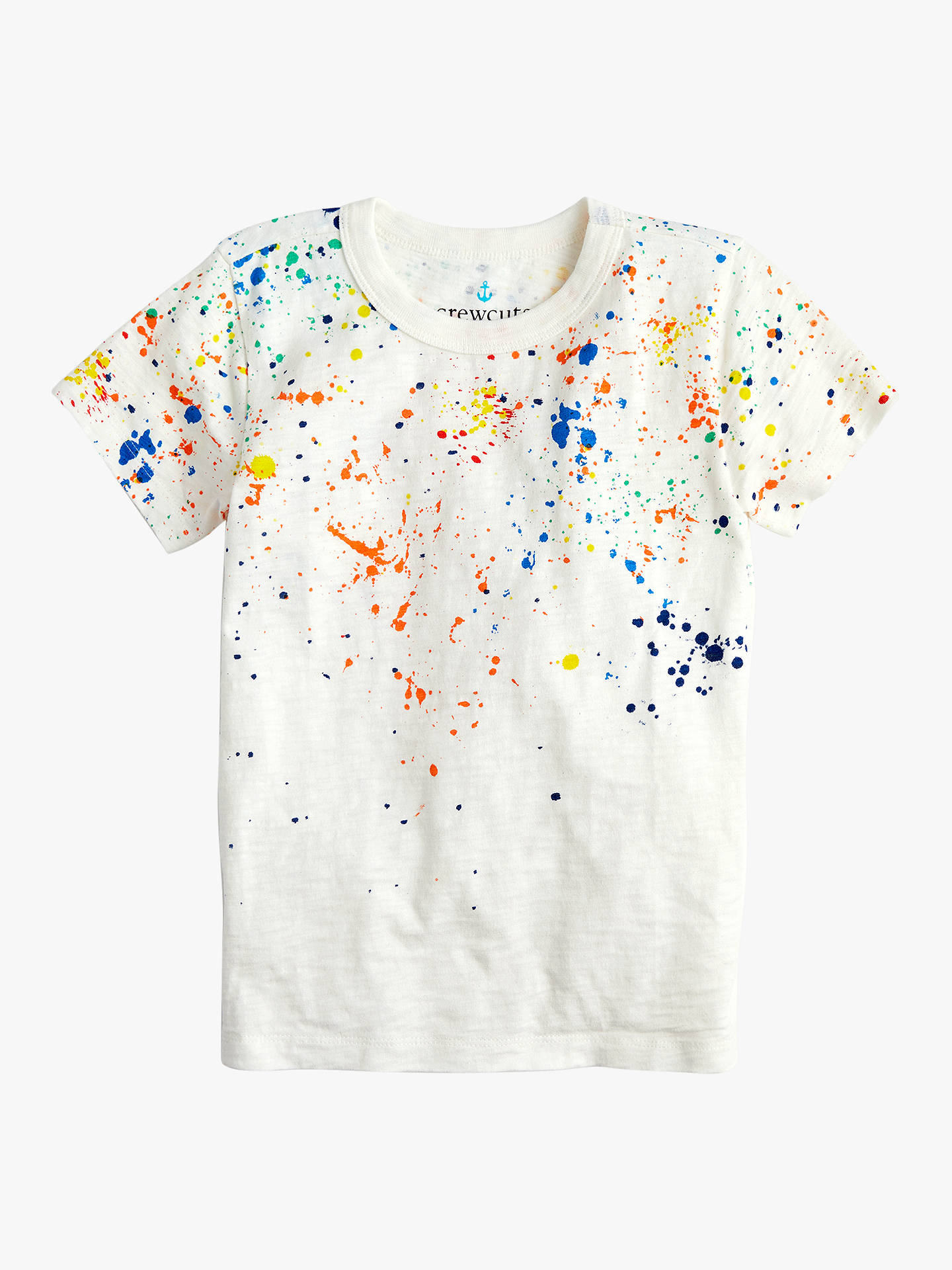 7e1425637 crewcuts by J.Crew Boys' Rainbow Splatter T-Shirt, White/Multi at ...