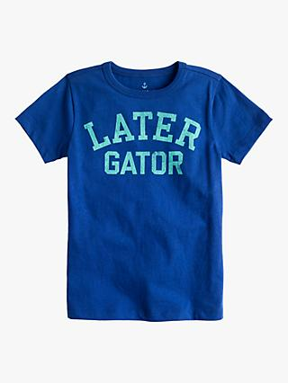 crewcuts by J.Crew Boys' Later Gator T-Shirt, Brilliant Sapphire