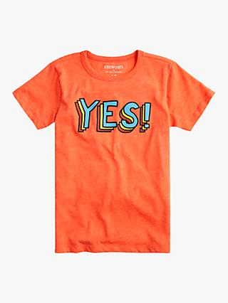crewcuts by J.Crew Boys' Yes Print T-Shirt, Orange