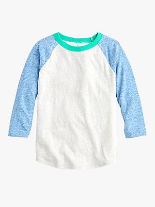 crewcuts by J.Crew Boys' Colour Block T-Shirt, Grey/Blue