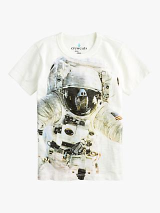 crewcuts by J.Crew Boys' Astronaut T-Shirt, White