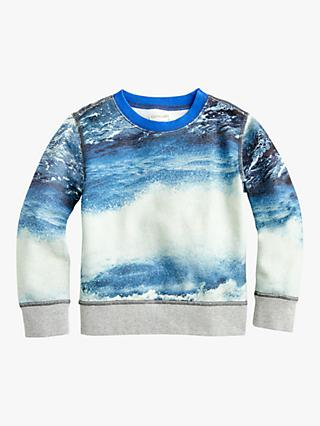 crewcuts by J.Crew Boys' Photo Print Jumper, Blue/Multi