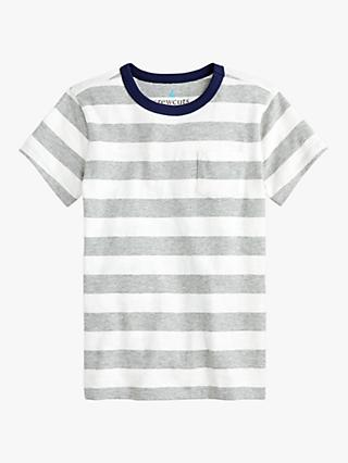crewcuts by J.Crew Boys' Sutherland Stripe, Ivory/Grey