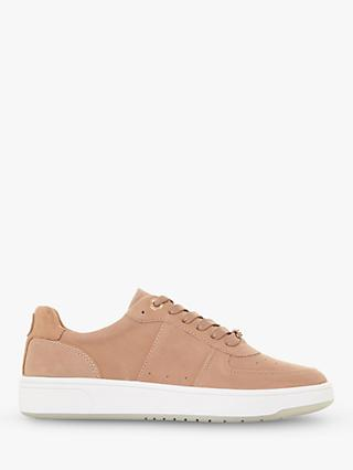 Dune Empress Low Top Trainers, Camel Leather