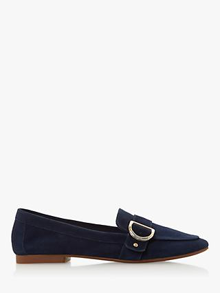a0a7dcf714f Dune Graysy Buckle Loafers