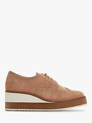 Dune Flossie Lace Up Wedge Heel Brogues