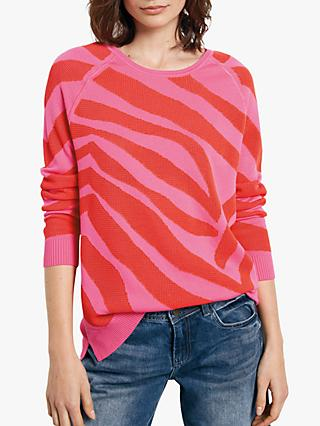 hush Zebra Print Jumper, Cherry/Bright Pink