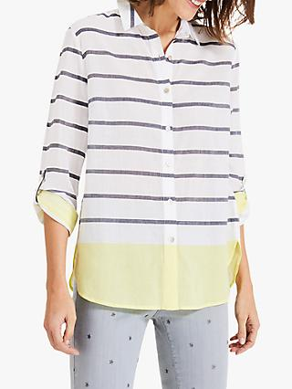 Phase Eight Denisa Striped Cotton Shirt, Ivory/Yellow
