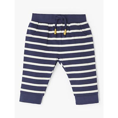 John Lewis & Partners Baby Stripe Joggers, Blue