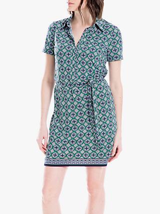 4ee1c658 Max Studio Geo Print Shirt Dress, Navy/Green