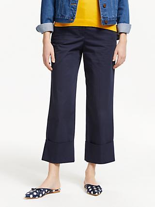 17e99a8b9740 Boden Hambledon Cotton Turn Up Trousers