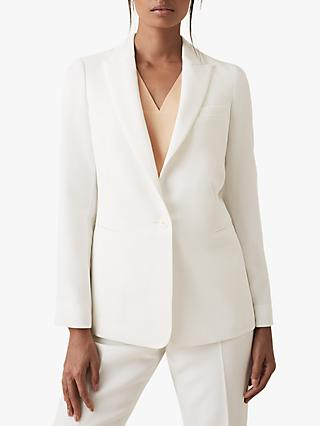 Reiss Ashby Blazer Jacket, White