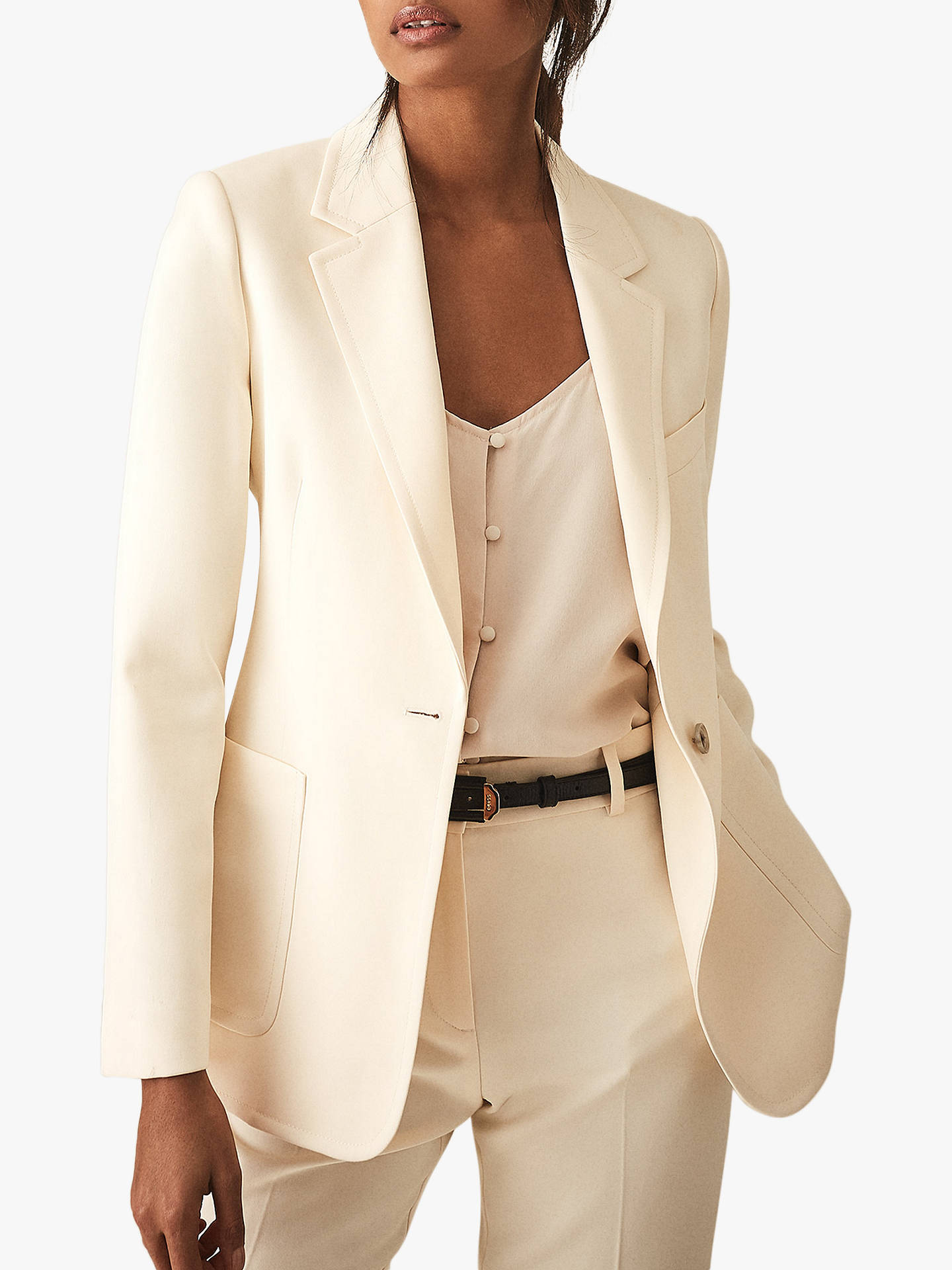 3591484bb5 Reiss Evie Tailored Jacket, Off White at John Lewis & Partners