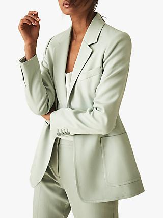 Reiss Evie Tailored Jacket, Aqua
