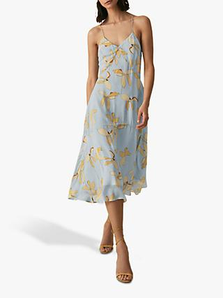 Reiss Alli Floral Thin Strap Dress, Multi