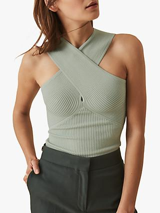 Reiss Dana Halter Neck Knitted Top