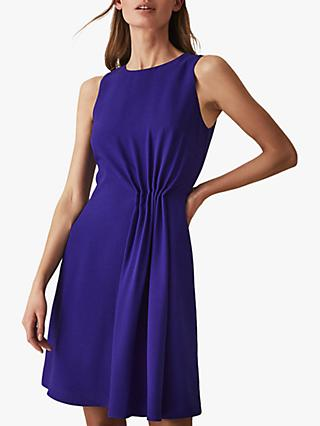 Reiss Nadia Sleeveless Ruffle Dress, Blue