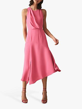 Reiss Cheyenne Strap Back Dress, Pink