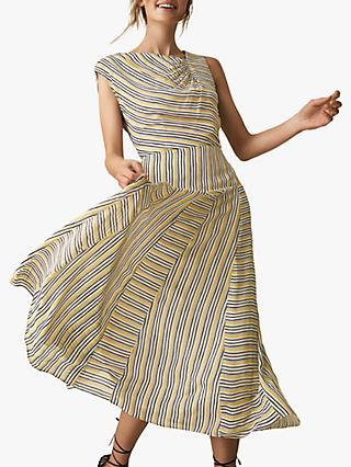 dae9369ee32 Reiss Raya Asymmetric Stripe Dress