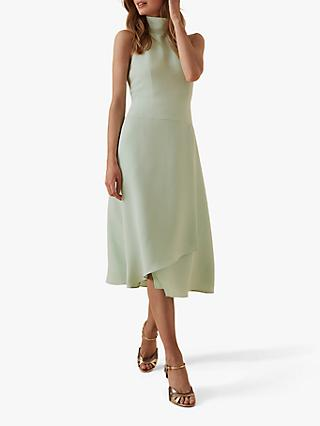 Reiss Doriana High Neck Dress, Mint