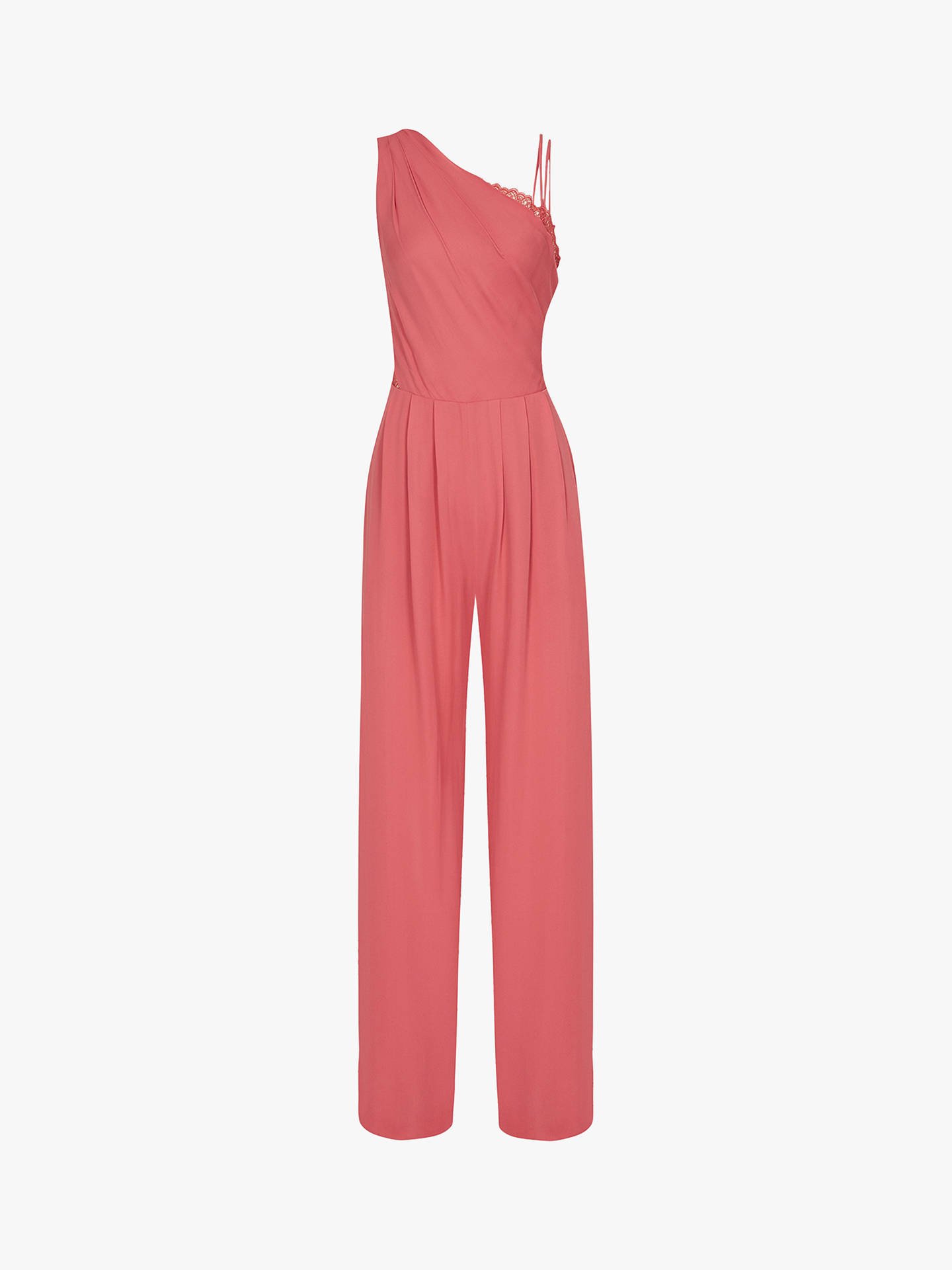 Buy Reiss Polly One-Shoulder Jumpsuit, Coral, 8 Online at johnlewis.com