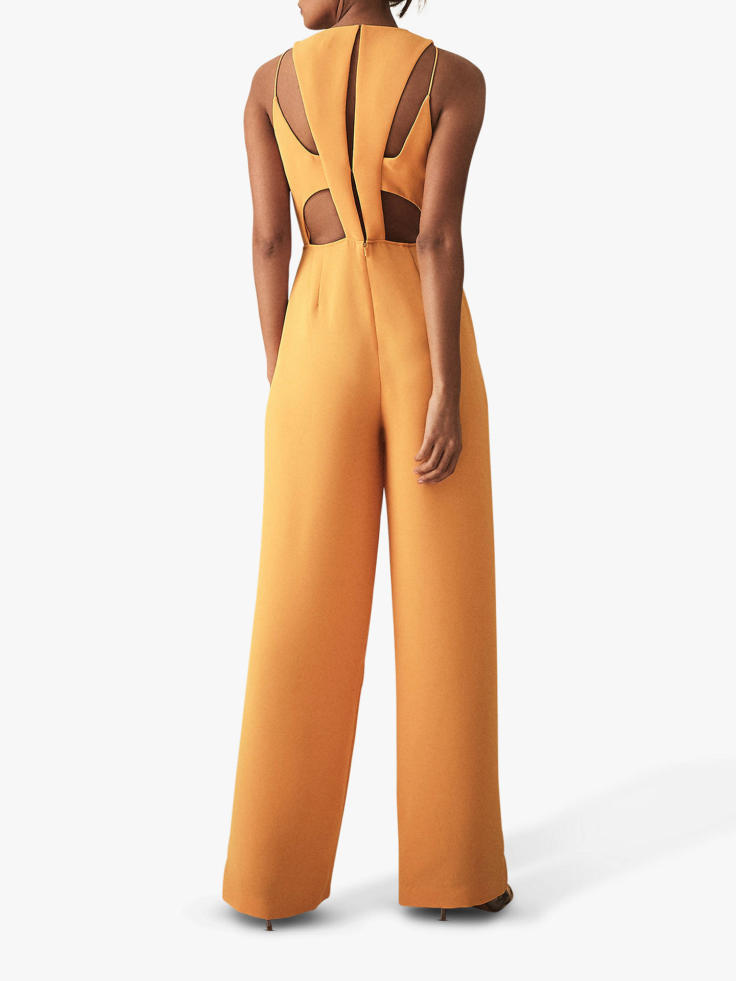 e9779f1bab55 ... Buy Reiss Chey Tie Back Jumpsuit, Orange, 6 Online at johnlewis.com ...