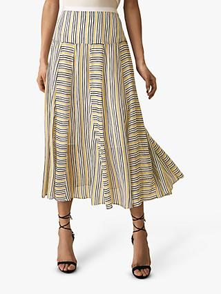 Reiss Maggie Stripe Skirt, Multi