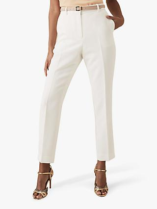 Reiss Ashby Crepe Trousers, White
