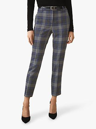 Reiss Josie Check Trousers, Blue Check