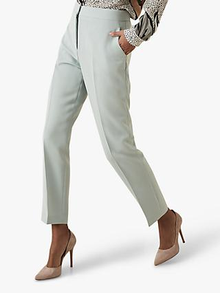 Reiss Laura Crepe Ankle Grazer Trousers, Soft Blue