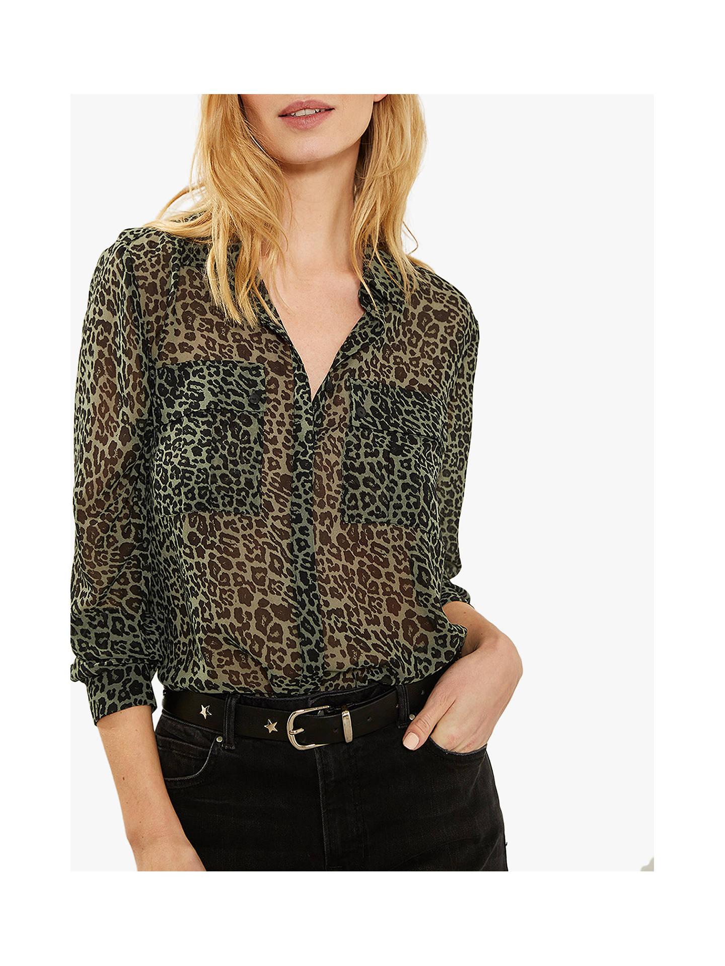 a94acf99af84 Buy Mint Velvet Philippa Animal Print Long Sleeve Shirt, Multi, 6 Online at  johnlewis ...