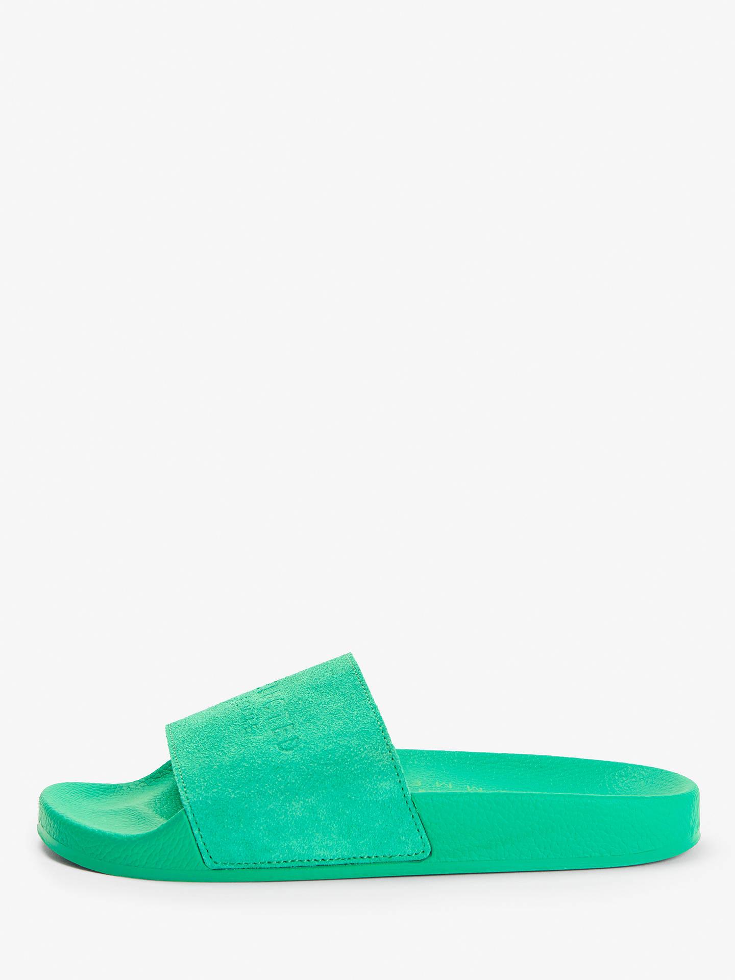 15581107090 Buy Selected Femme Steph Slider Sandals, Gumdrop Green Suede, 5 Online at  johnlewis.