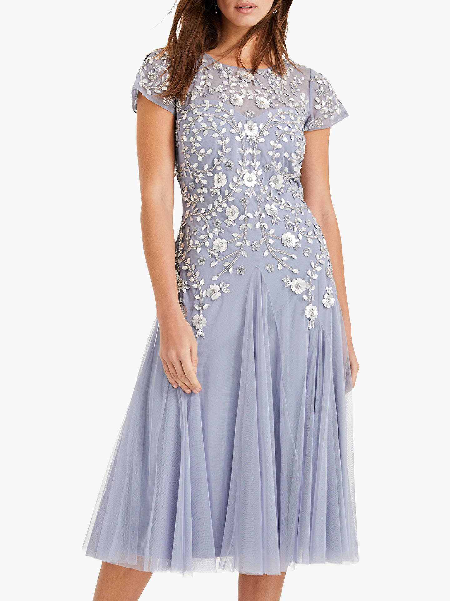 Phase Eight Collection 8 Celia Embroidered Dress Lavender
