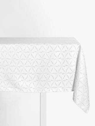 John Lewis & Partners Snowscape Tablecloth, Silver