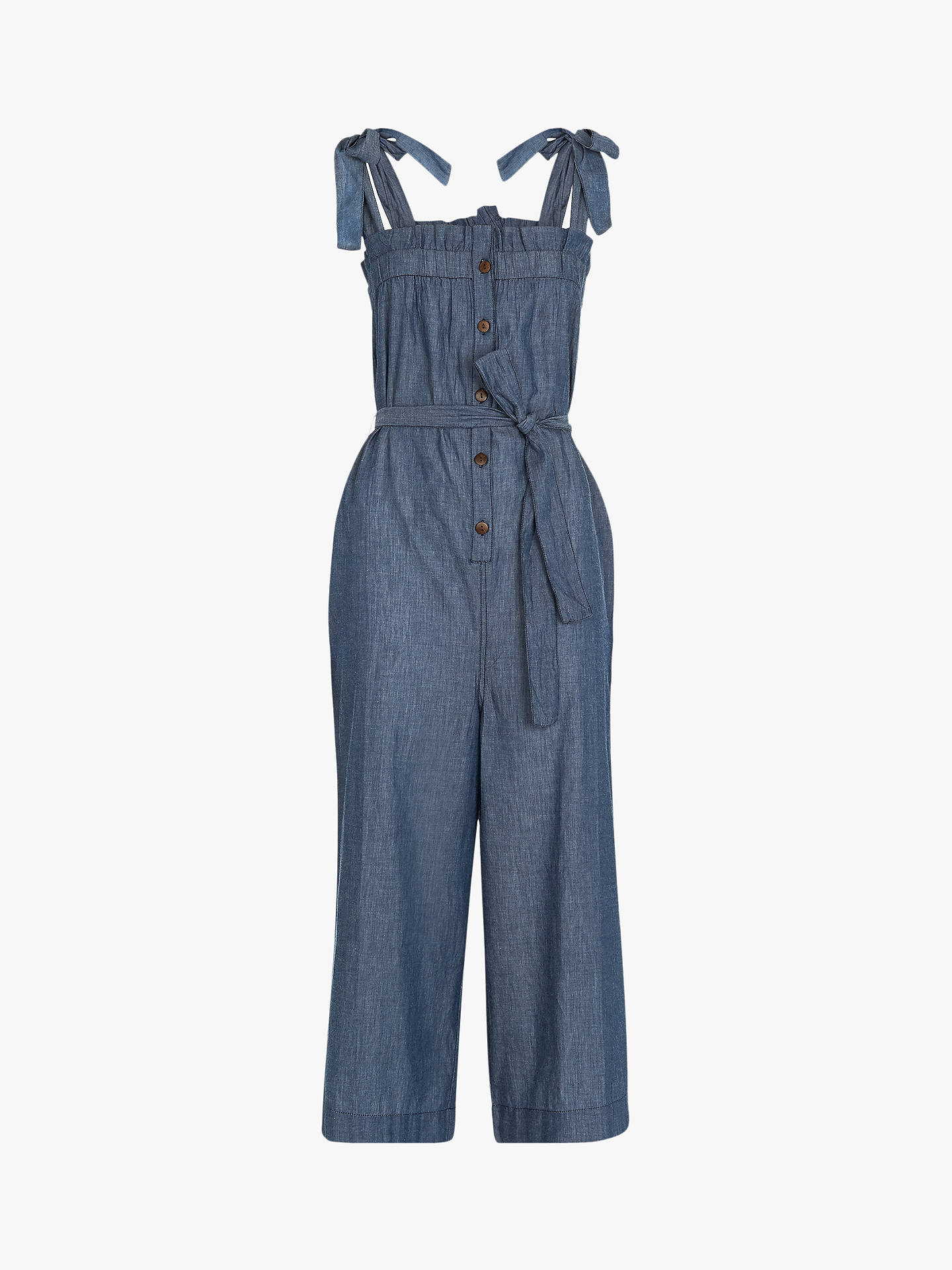 8e205f37e830 ... Buy Whistles Tie Shoulder Chambray Jumpsuit