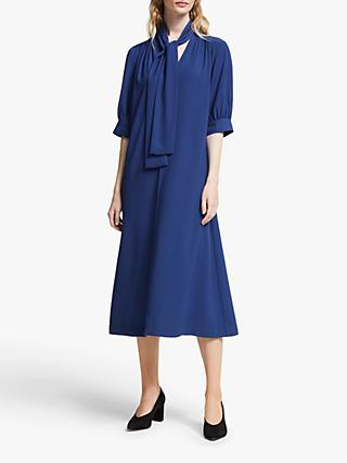 John Lewis & Partners Tie Neck Midi Dress