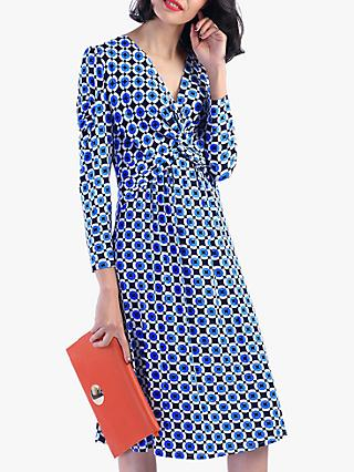 Jolie Moi Retro Circle Print Dress, Blue