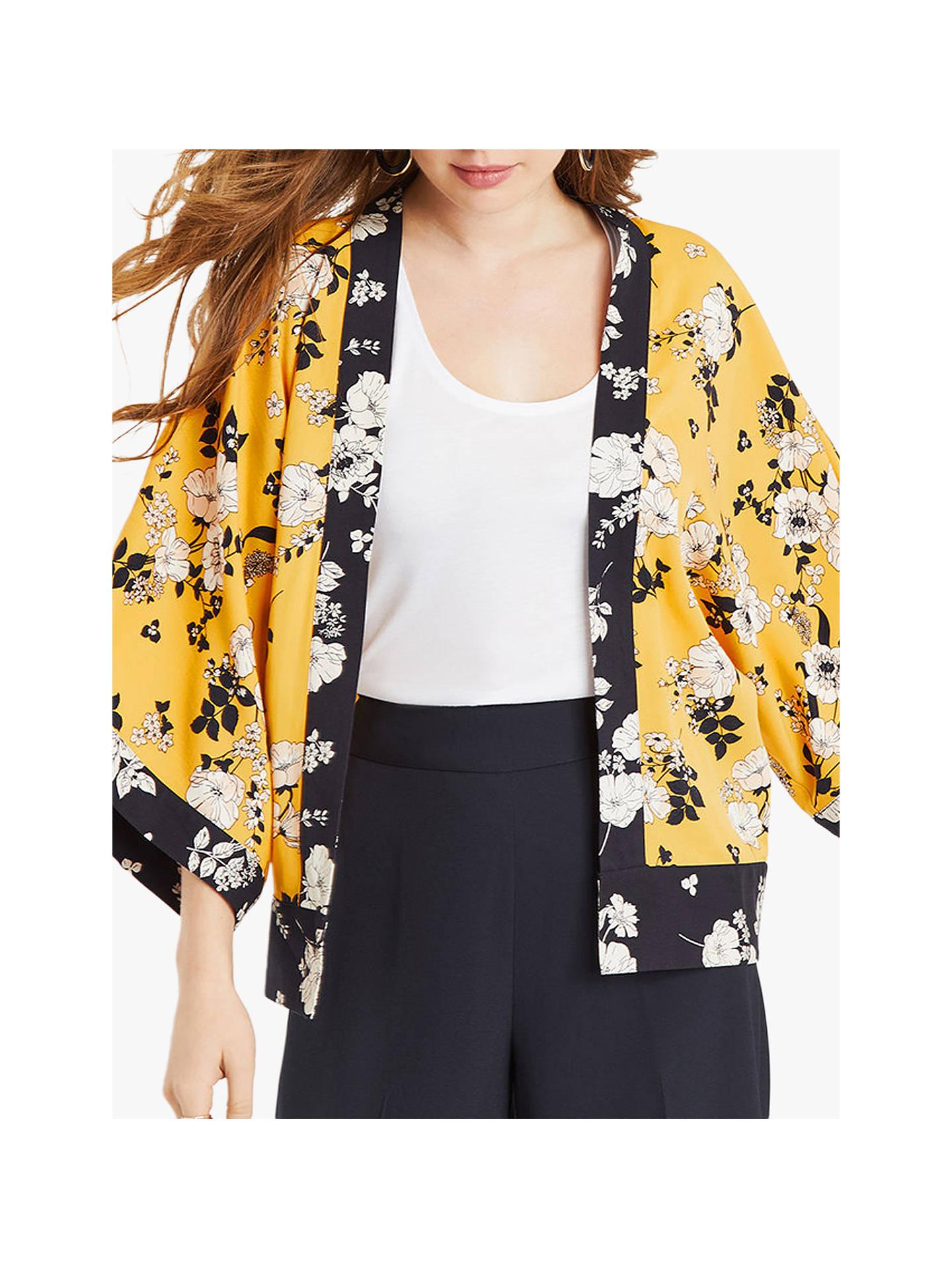 499ef9e82b0f Buy Oasis Scarf Print Kimono Jacket, Multi Yellow, 24 Online at  johnlewis.com ...