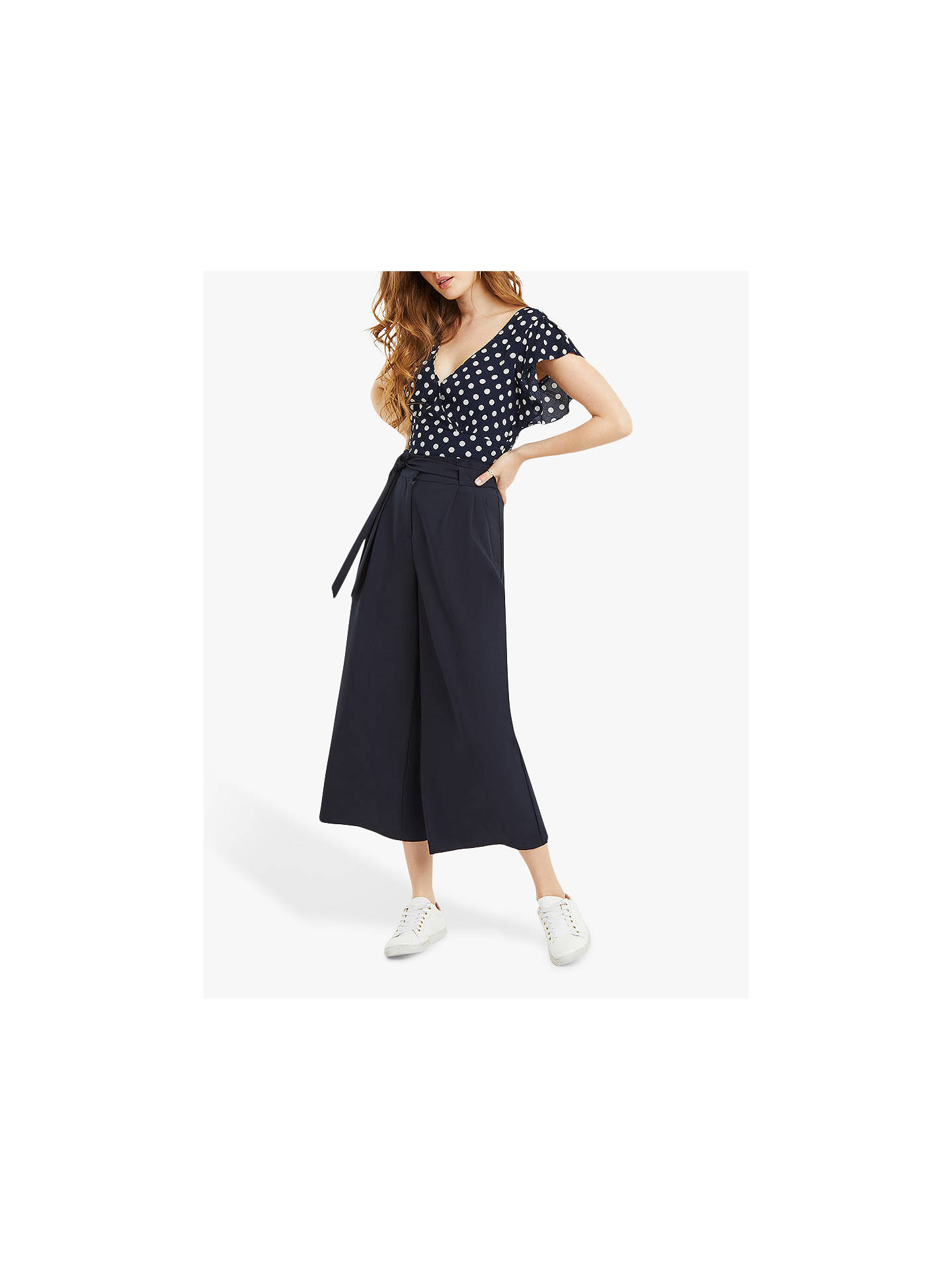 4b9aa1aaa90cfd ... Buy Oasis Spot Frill Crop Top, Multi, 18 Online at johnlewis.com ...